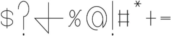 Pricisia Regular ttf (400) Font OTHER CHARS