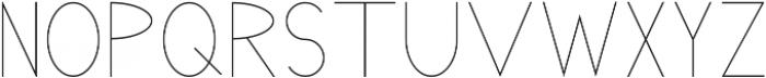 Pricisia Regular ttf (400) Font UPPERCASE