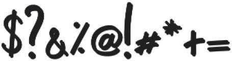 Primus Color Script otf (400) Font OTHER CHARS