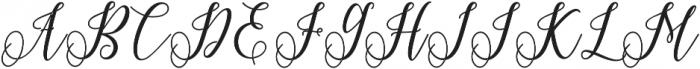 Princella Bold Bold otf (700) Font UPPERCASE