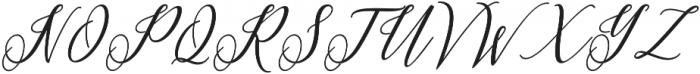 Princella Bold Slant Italic otf (700) Font UPPERCASE