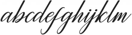 Princella Bold Slant Italic otf (700) Font LOWERCASE