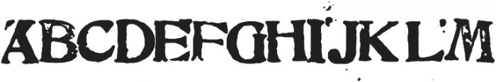 Printing Block 95 ONE otf (400) Font UPPERCASE
