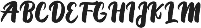 Priscillia Script Medium otf (500) Font UPPERCASE