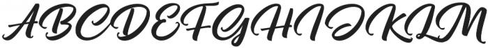 Pristyne Regular otf (400) Font UPPERCASE