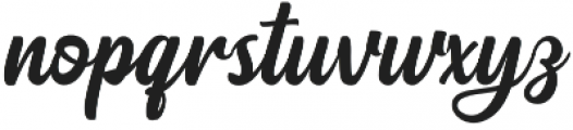 Pristyne Regular otf (400) Font LOWERCASE