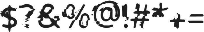 PrntGlitch Bold otf (700) Font OTHER CHARS