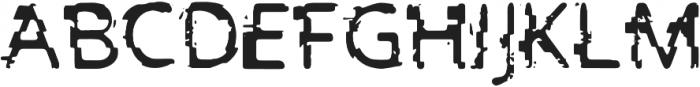 PrntGlitch Bold otf (700) Font UPPERCASE