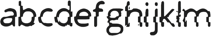 PrntGlitch Regular otf (400) Font LOWERCASE