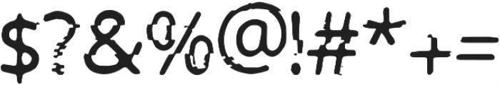 PrntGlitch Regular ttf (400) Font OTHER CHARS