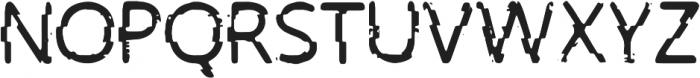 PrntGlitch Regular ttf (400) Font UPPERCASE