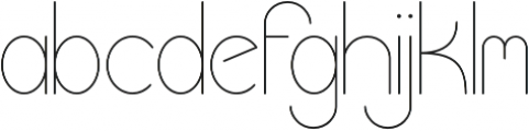 ProFuturic-Sans otf (400) Font LOWERCASE