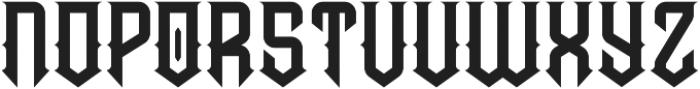 Prohibited Regular otf (400) Font UPPERCASE