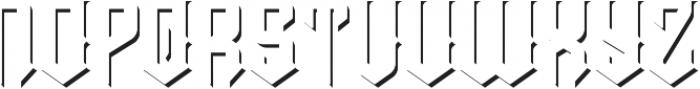 Prohibited shadow fx otf (400) Font UPPERCASE