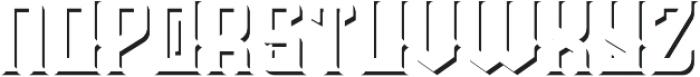 Prohibited shadow fx otf (400) Font LOWERCASE