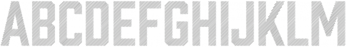 Prohibition Lines otf (400) Font LOWERCASE