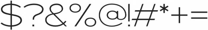 Prosa Light otf (300) Font OTHER CHARS