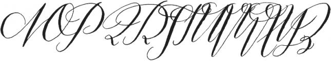 Prosciutto Half otf (400) Font UPPERCASE