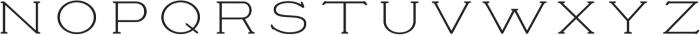 Prospect Light ttf (300) Font UPPERCASE