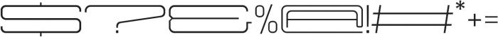 Protrakt Regular-Exp-Seven otf (400) Font OTHER CHARS