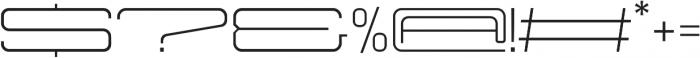 Protrakt Regular-Exp-Six otf (400) Font OTHER CHARS