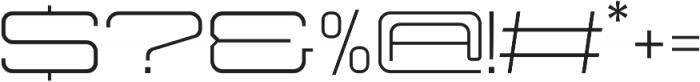 Protrakt Regular-Exp-Three otf (400) Font OTHER CHARS