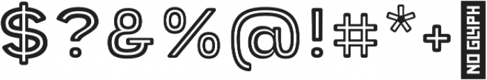 Provoke Inline-Rounded otf (400) Font OTHER CHARS