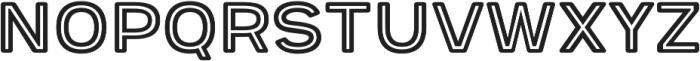 Provoke Inline-Rounded otf (400) Font UPPERCASE