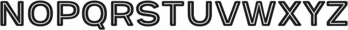 Provoke Inline-Thin-Rounded otf (100) Font UPPERCASE