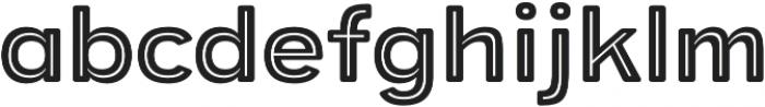 Provoke Inline-Thin-Rounded otf (100) Font LOWERCASE