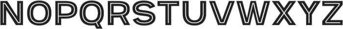 Provoke Inline-Thin otf (100) Font UPPERCASE