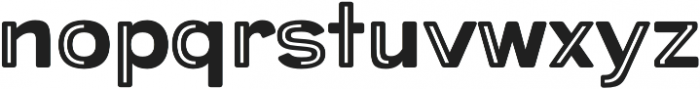 Provoke Partial-Inline-Rounded otf (400) Font LOWERCASE