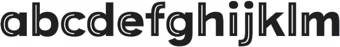 Provoke Partial-Inline-Thin otf (100) Font LOWERCASE