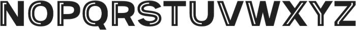 Provoke Partial-Inline otf (400) Font UPPERCASE