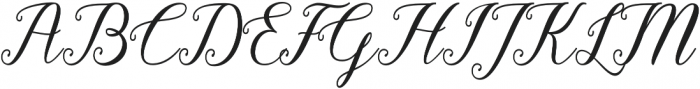 Pruistine Script otf (400) Font UPPERCASE