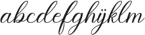 Pruistine Script otf (400) Font LOWERCASE
