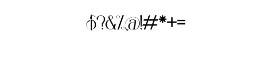 PREVIEW OZELLA-07 Font OTHER CHARS