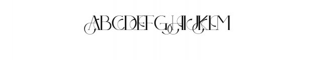 PREVIEW OZELLA-08 Font UPPERCASE