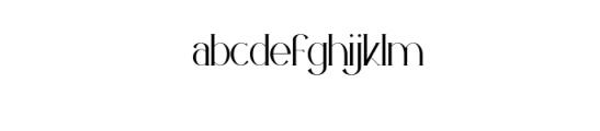 PREVIEW OZELLA-08 Font LOWERCASE