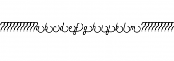 Preview SS2.ttf Font LOWERCASE