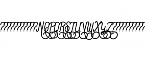 Preview Swash.ttf Font UPPERCASE