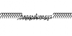 Preview Swash.ttf Font LOWERCASE