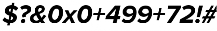 Proxima Nova Bold Italic Font OTHER CHARS
