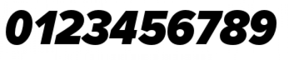 Proxima Nova Condensed Black Italic Font OTHER CHARS