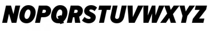 Proxima Nova Condensed Black Italic Font UPPERCASE