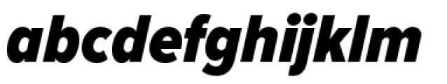Proxima Nova Condensed Black Italic Font LOWERCASE