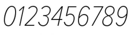 Proxima Nova Condensed Thin Italic Font OTHER CHARS