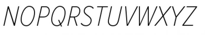 Proxima Nova Condensed Thin Italic Font UPPERCASE