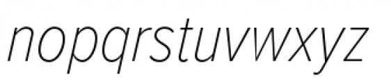 Proxima Nova Condensed Thin Italic Font LOWERCASE