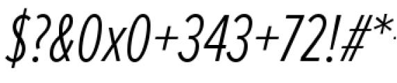 Proxima Nova Extra Condensed Light Italic Font OTHER CHARS